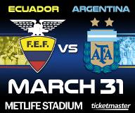 Argentina vs. Ecuador International Friendly