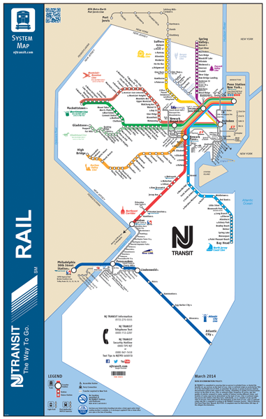 New Jersey Transit System Map