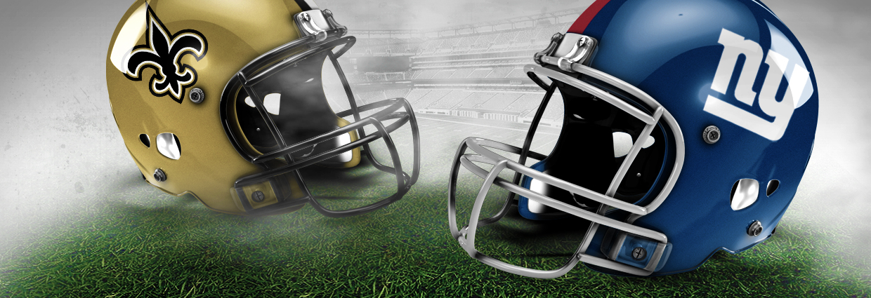 Image result for New Orleans Saints vs. NY Giants