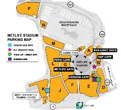 MetLife Stadium Parking Map- Rideshare