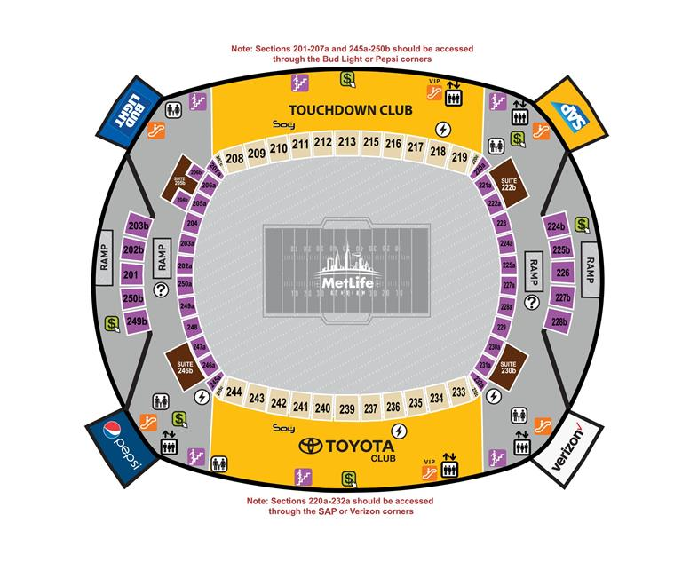 200 Level Concourse Map